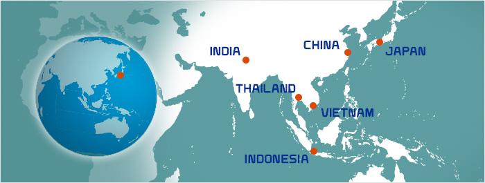 海外の事業展開地図
